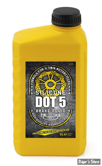 liquide de frein dot5 mcs silicone le bidon de 1 litre biker 39 s store. Black Bedroom Furniture Sets. Home Design Ideas