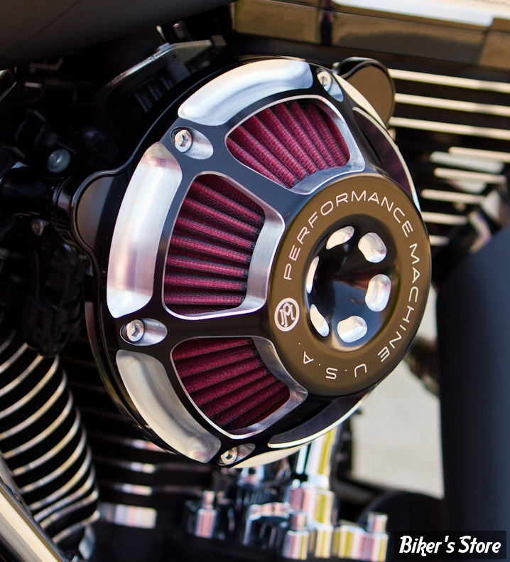- FILTRE A AIR - PERFORMANCE MACHINE - TOURING 08/16 / SOFTAIL 16/17 / DYNA FXDLS 16/17 - MAX HP - CONTRAST CUT