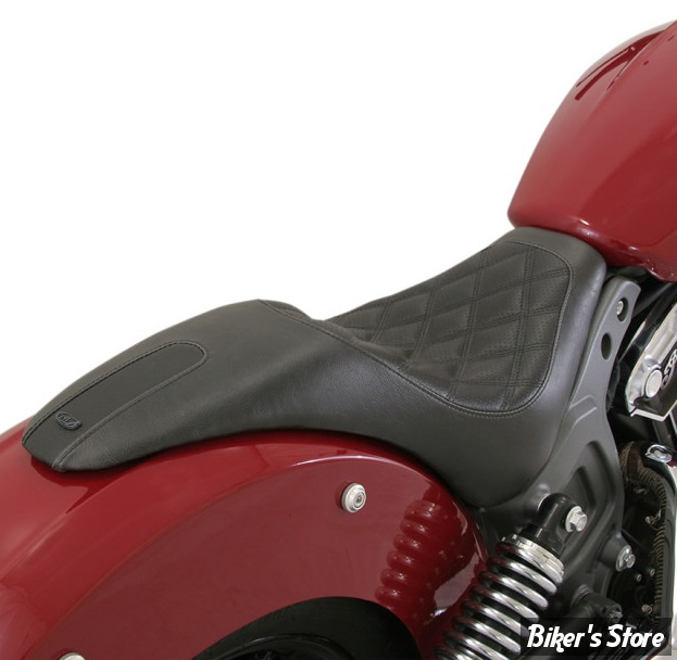 SELLE ROLAND SANDS DESIGN - DUO - INDIAN SCOUT / SIXTY 15UP - RSD BOSS INDIAN SCOUT 2-UP SEAT - NOIR - 76986