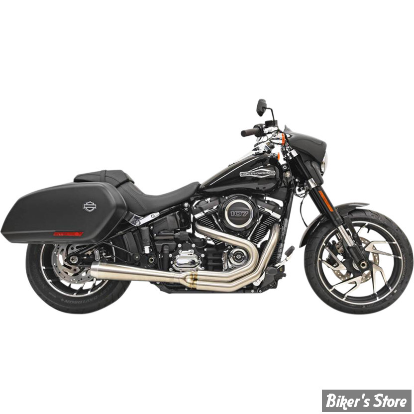 echappement bassani softail flsb sport glide 18up road rage 2 into 1 system megaphone. Black Bedroom Furniture Sets. Home Design Ideas