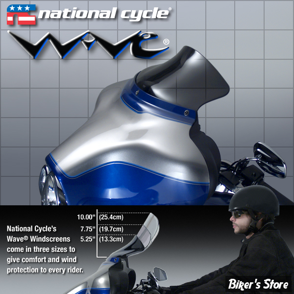 pare brise national cycle inc wave flht96 11 3 teinte fonce biker 39 s store. Black Bedroom Furniture Sets. Home Design Ideas