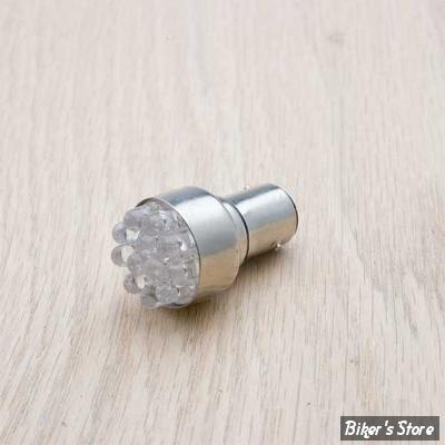 AMPOULE DE FEU ARRIERE - 12V - CULOT : BAY15D - OEM 1157 - LED blanche - Double filament