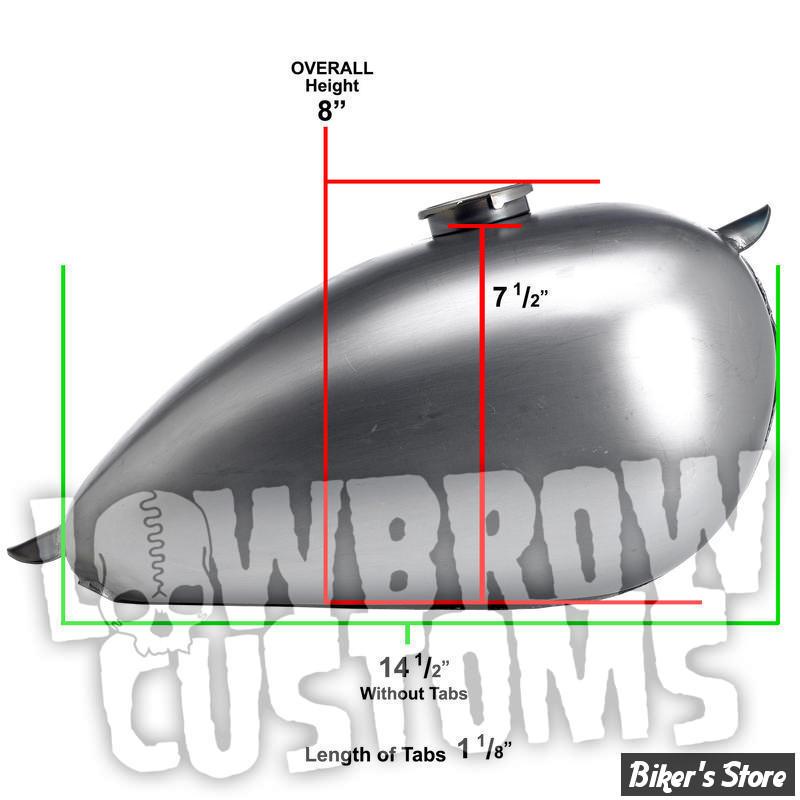 RESERVOIR LOWBROW CUSTOMS - UNIVERSEL - P-NUT - 2 G  - Avec pattes soudées