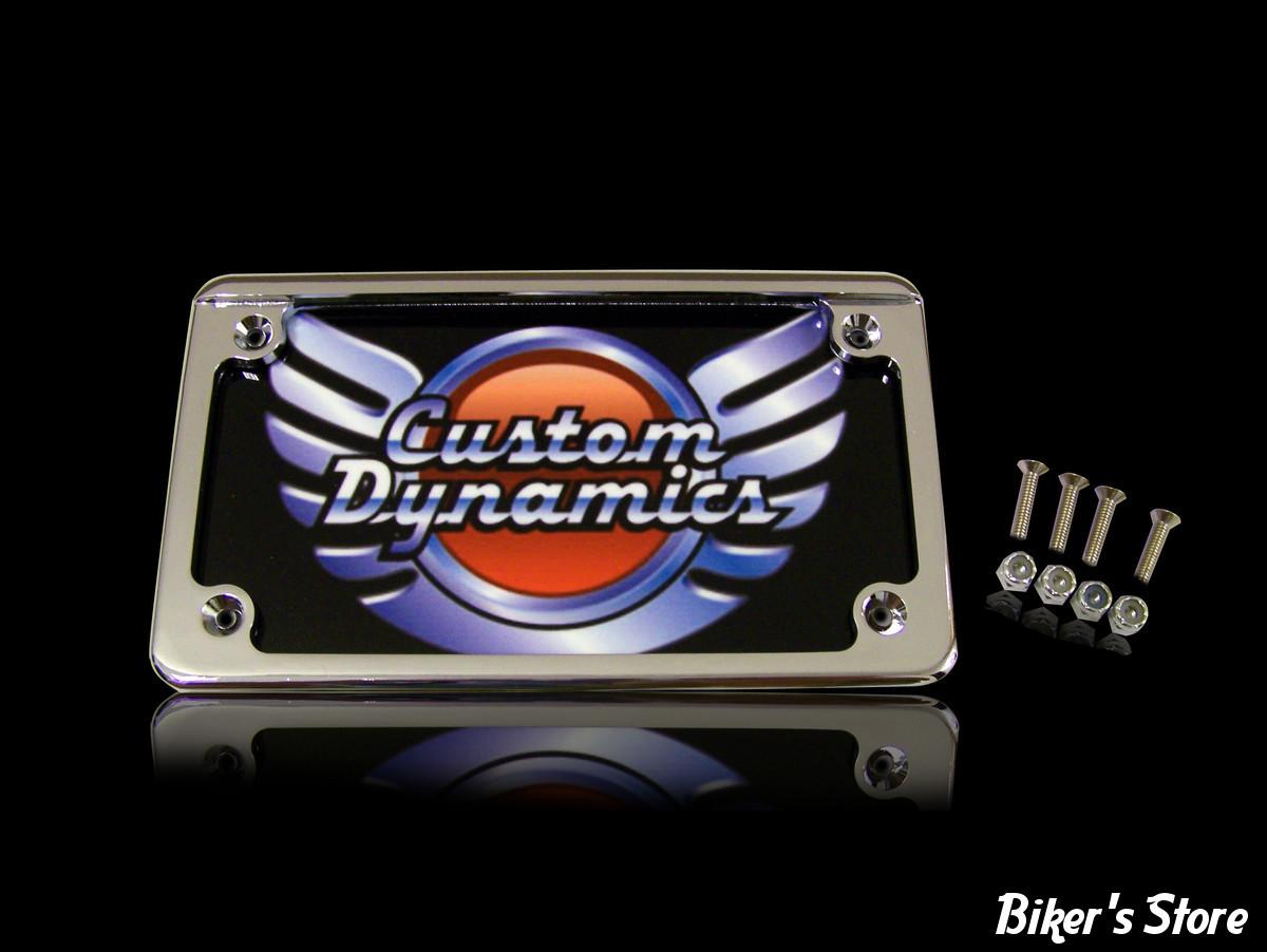 entourage de plaque avec eclairage int gr format us chrome biker 39 s store. Black Bedroom Furniture Sets. Home Design Ideas